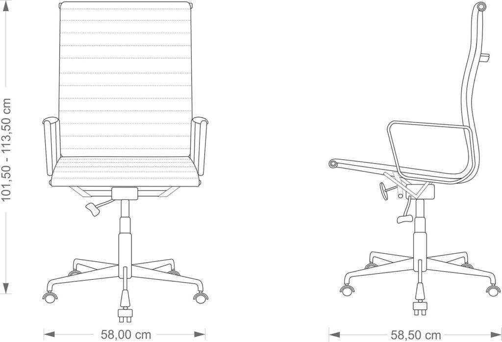 Eames EA 119 technical drawing
