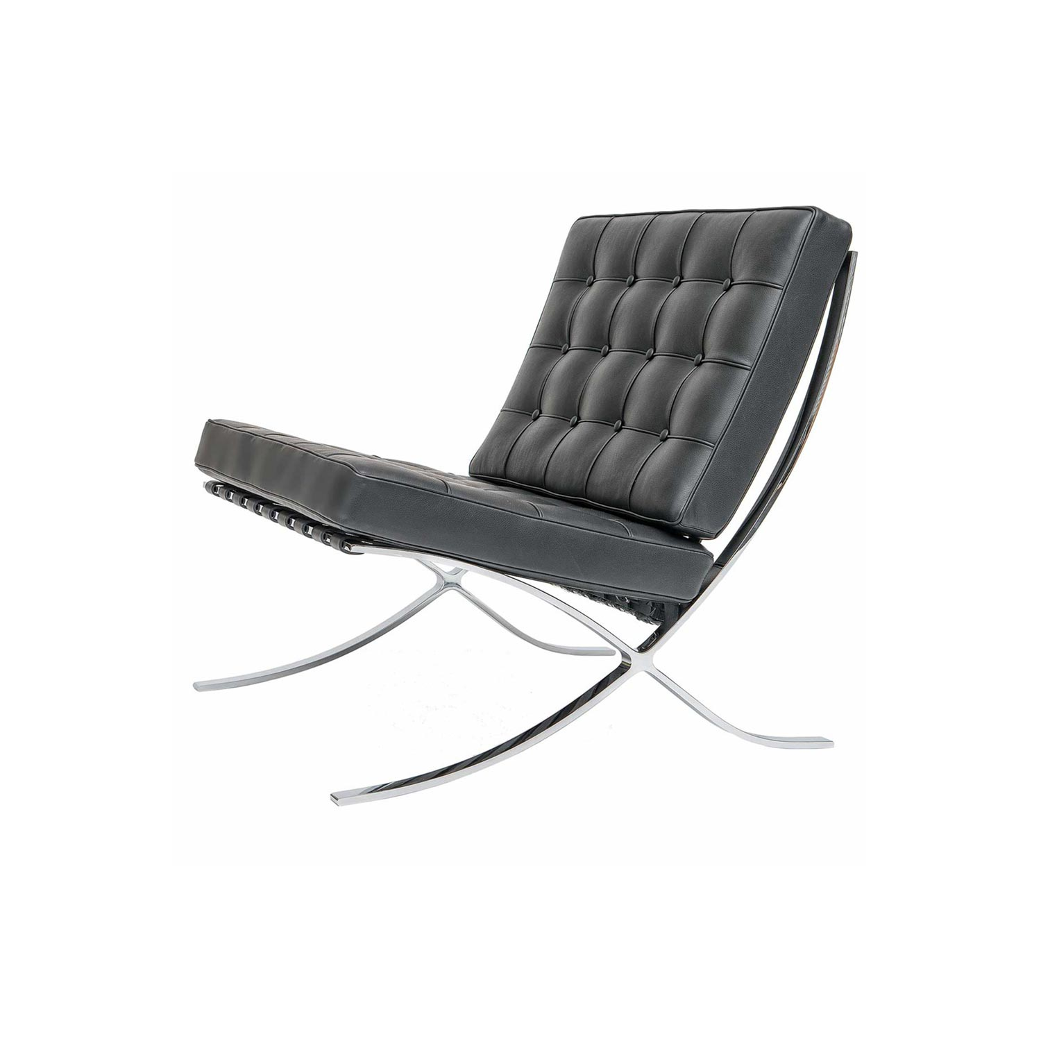 Barcelona style chair by mies van der rohe steelform - Mies van der rohe muebles ...