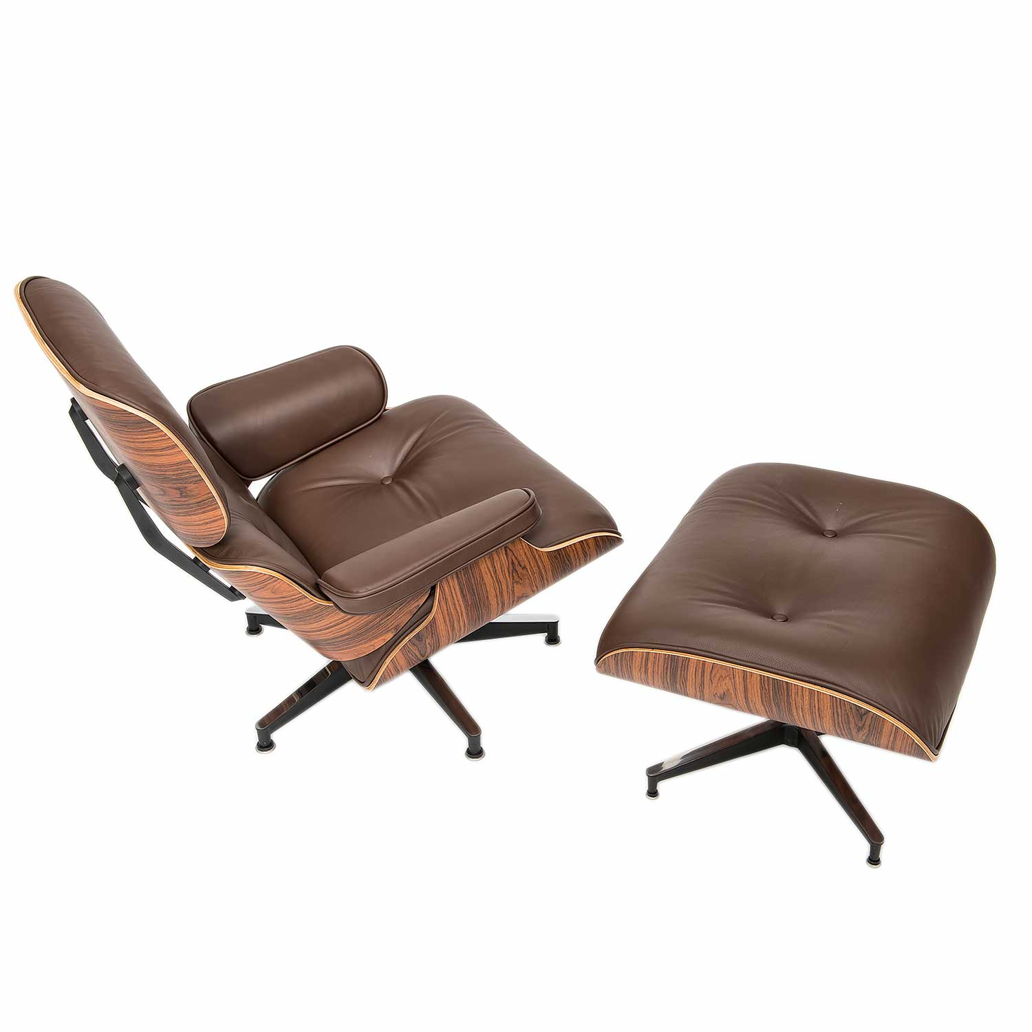 eames designed lounge chair with ottoman a steelform. Black Bedroom Furniture Sets. Home Design Ideas