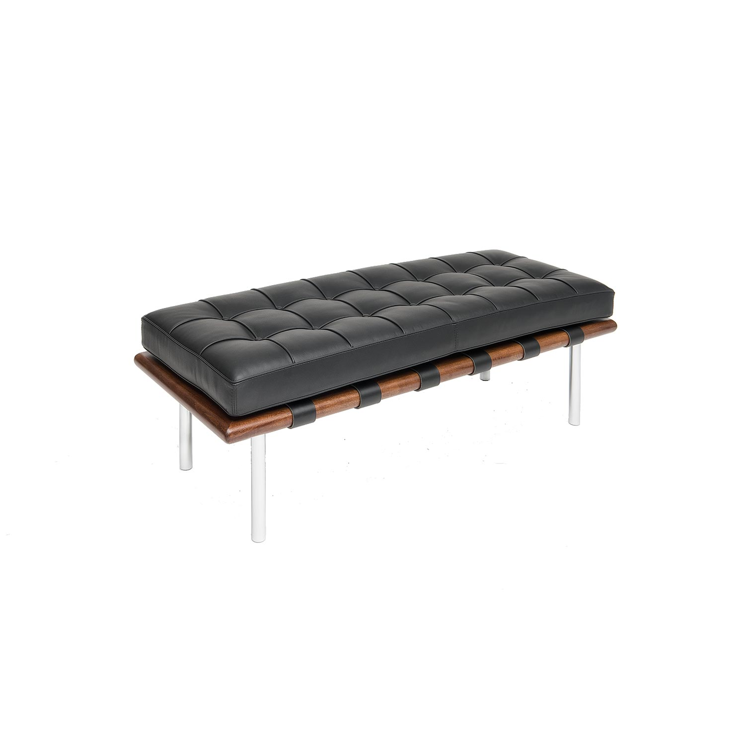 Barcelona Style Bench By Mies Van Der Rohe Steelform Design Classics