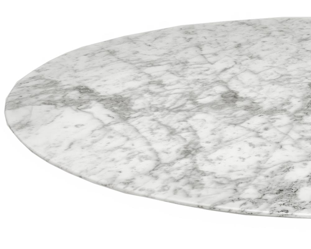 Coated marble