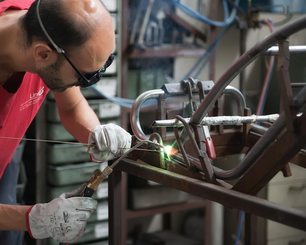 welding steel frame