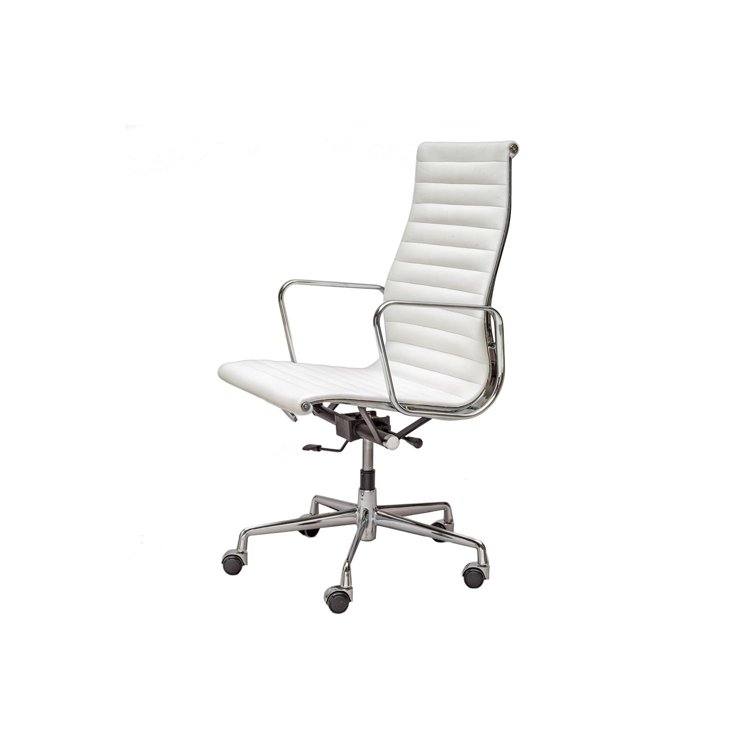 Aluminium chair ea 119 white steelform the best for Charles eames kopie