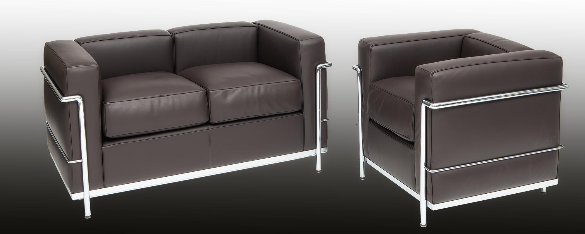 Corbusier designed Sofa LC 22 | steelform design classics